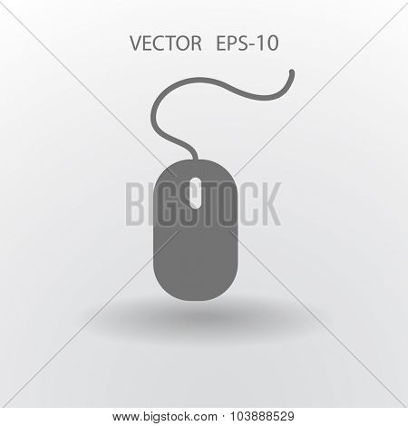 Flat icon of mouse