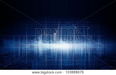 Background digital image with construction building design