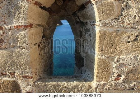 View from window of Tenedos Castle