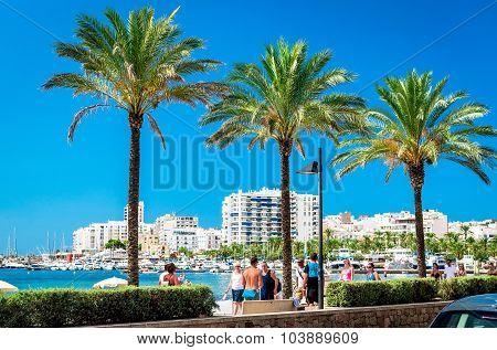 Seafront Promenade Of Ibiza