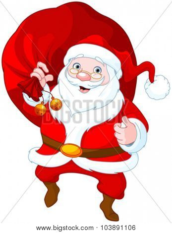 Illustration of cute Santa Claus