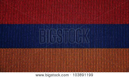 Flag of Armenia, Armenian flag painted on texture with stitches