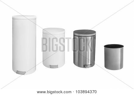 bins isolated on white background