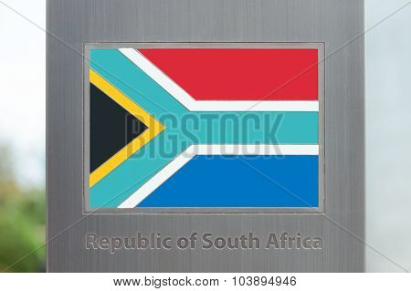 Series Of Flags On Pole - South Africa