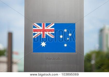 Flags On Pole Series - Australia