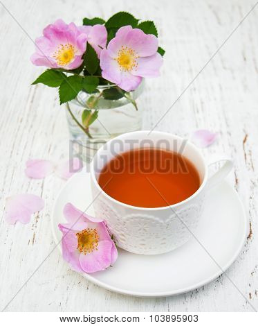 Cup Of Tea And Dogrose