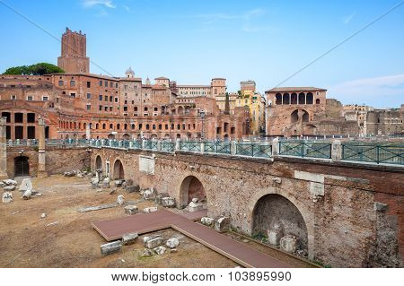 Fori Imperiali And Casa Dei Cavalieri Di Rodi, Rome