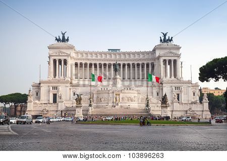 Outdoor View Of Altare Della Patria, Rome, Italy