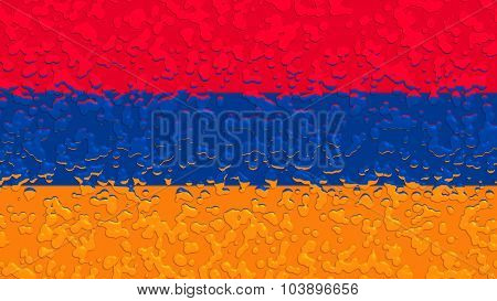 Flag of Armenia, Armenian flag with water drops on it.