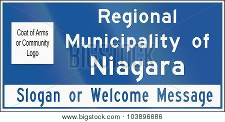 Regional Municipality Name Sign In Ontario - Canada