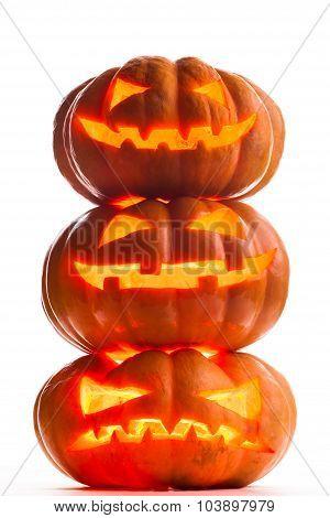 Scary halloween pumpkins Jack O Lanterns