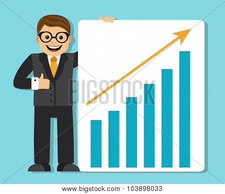 successful businessman making a presentation