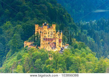 Bavarian Hohenschwangau Castle View