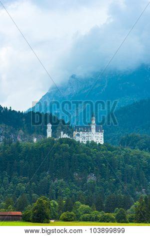Bavarian Neuschwanstein Castle View