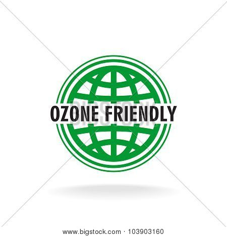 Ozone Friendly Sign. Globe Green Symbol.