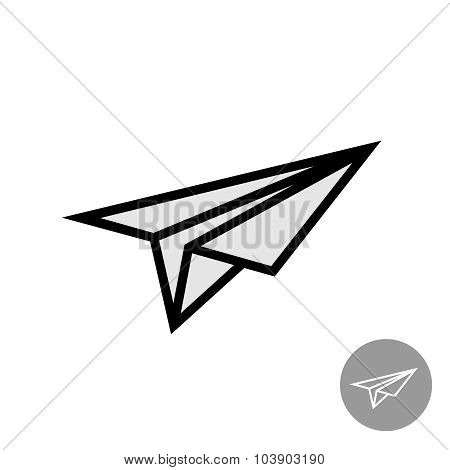 Paper Airplane Simple Icon