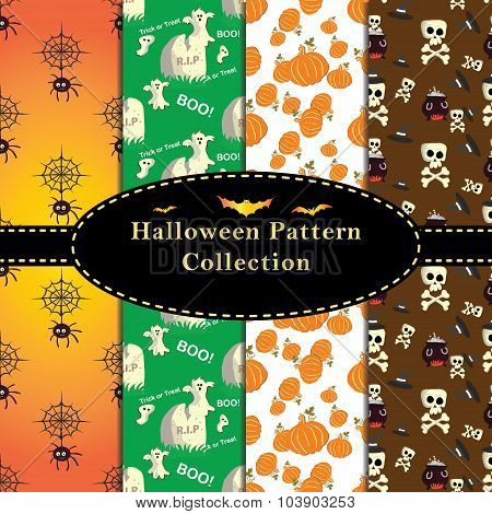 Colorful Halloween Patterns collection.