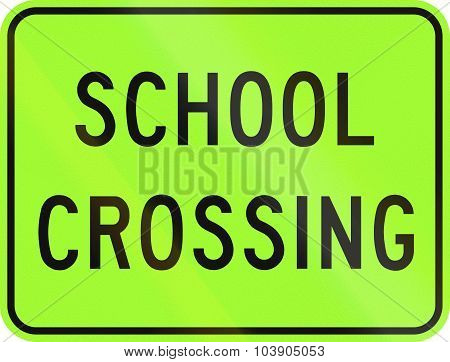 School Crossing In Canada