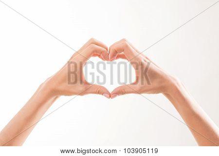 Woman's hand demonstrating romantic relations