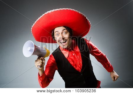 Mexican guy with the loudspeaker