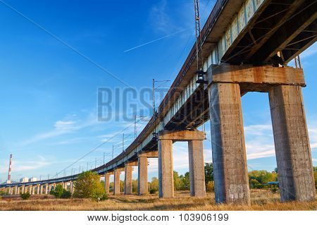 The railroad overpass