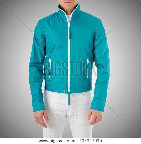Stylish jacket isolated on model