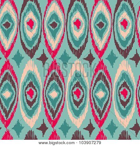 Boho Vintage Tribal Shape Pattern Background