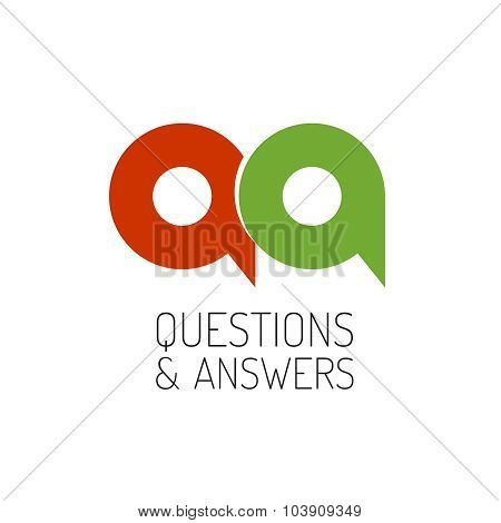 Qa Concept Logo Template. Letters Q And A Symbol.