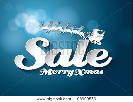 Christmas holidays Sale vector design