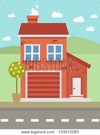 Colorful Flat House
