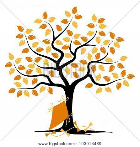 Autumn Tree And Kite