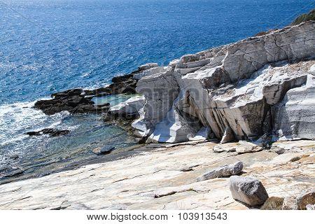 Aliki Ancient Marble Quarry Thassos Greece