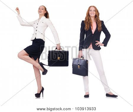 Set of photos with business woman