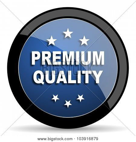 premium quality blue circle glossy web icon on white background, round button for internet and mobile app