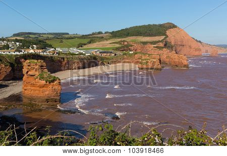 Ladram Bay Devon England UK located between Budleigh Salterton and Sidmouth Jurassic coast