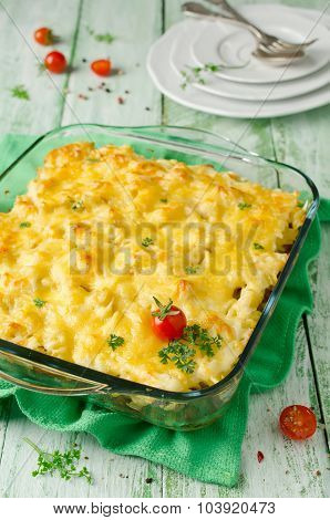 Casserole With Pasta And Minced Meat