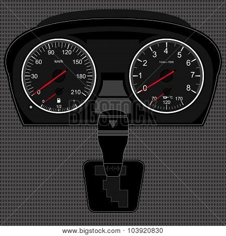 Speedometer and gear box
