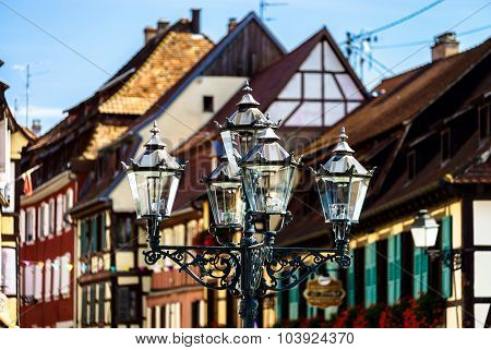 Beautiful Old-style Street Lamp On The Street