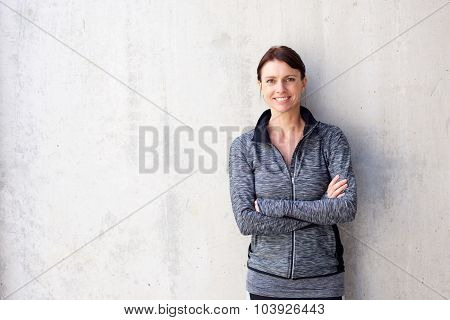 Attractive Older Sports Woman Smiling