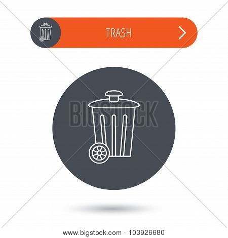 Recycle bin icon. Trash container sign.