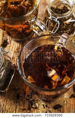 Loose tea on the table
