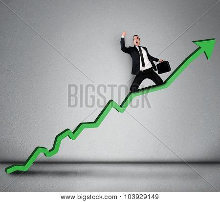 Green arrow report growth statistics