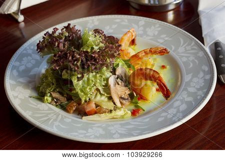 Dish With Shrimp