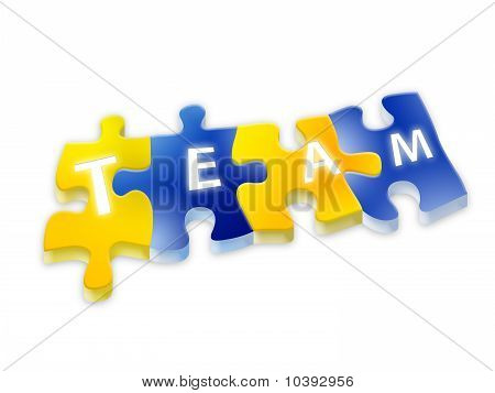 Puzzle team isolated
