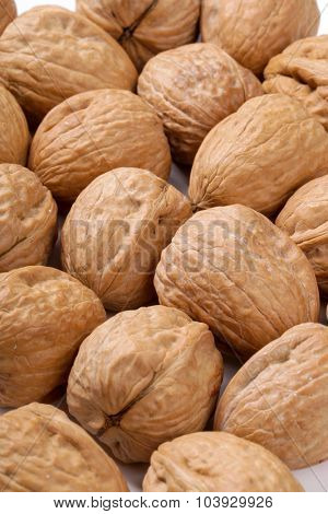 Nuts. Walnuts on the table