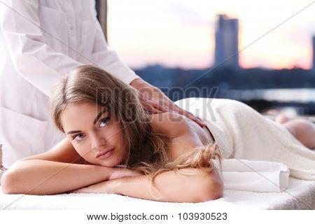 Beauty. Woman in spa salon