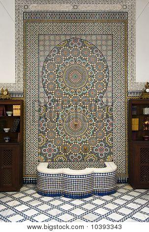 Fountain With Ceramic Mosaics