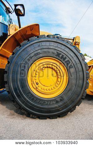 Michelin Tire On Liebherr Tractor