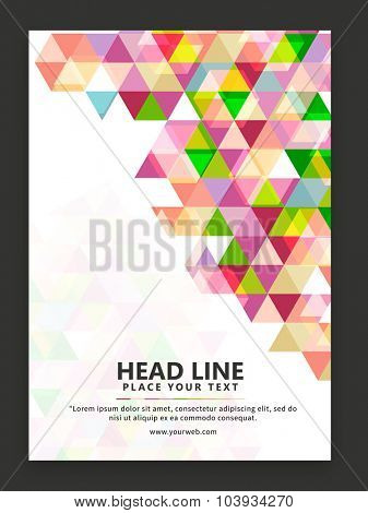 Colorful creative abstract design decorated, one page Business Flyer, Banner or Template design.
