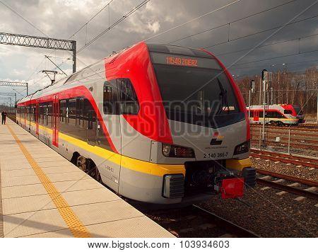 Regional commuter train in Lodz ..